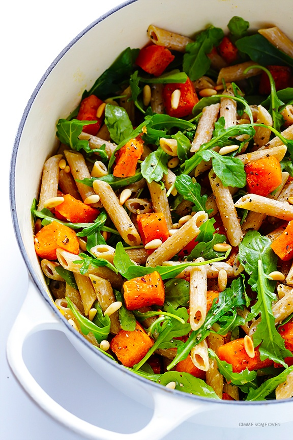 5-ingredient-butternut-squash-arugula-and-goat-cheese-pasta-12
