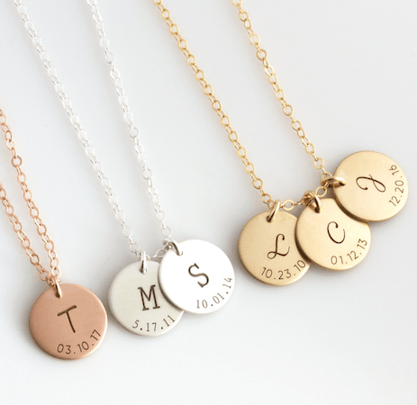 mothers day initial necklace