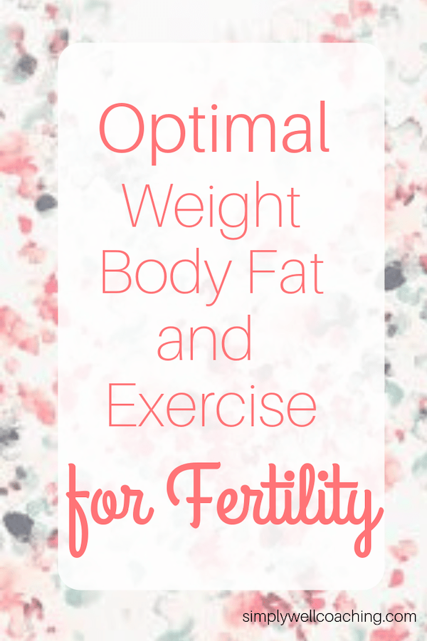 optimal weight body fat and exercise for fertility