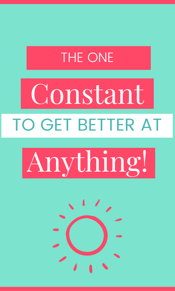 This is where a lot of us get stuck. We use Google to overthink, and overwhelm ourselves. We ignore the biggest, most obvious solution: Do the thing more. Click to see what I mean!