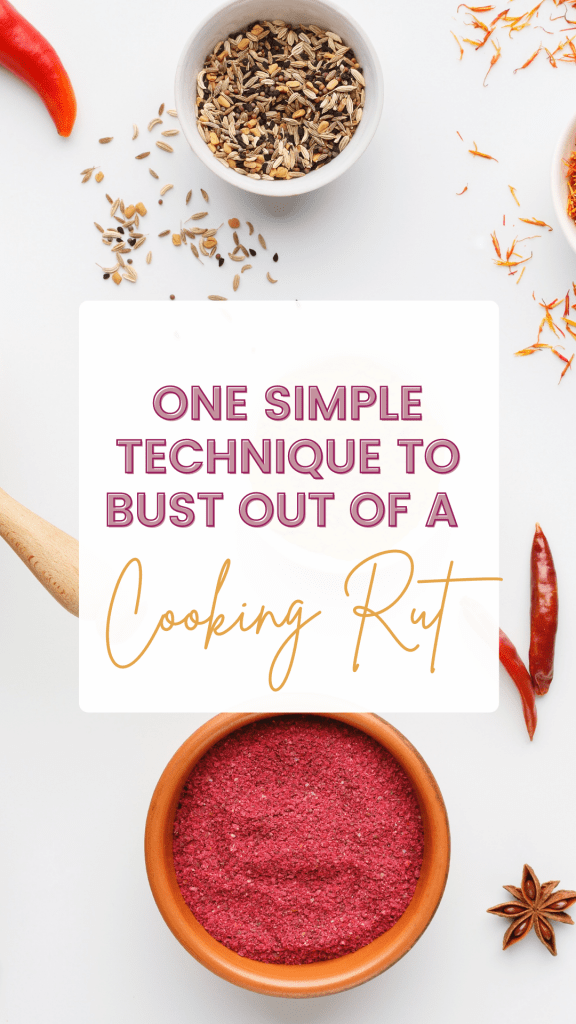 I truly enjoy cooking, but you know what I don't enjoy? The relentless meal planning that goes along with it. If you're stuck in a cooking rut, try this tip!