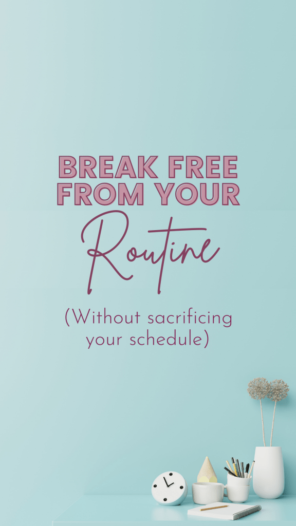 Routine is how we are able to tackle busy weeks without losing our minds because we are able to go on cruise control. The downside is the same. We are on cruise control. I want to share with you a strategy that creates an in-between.