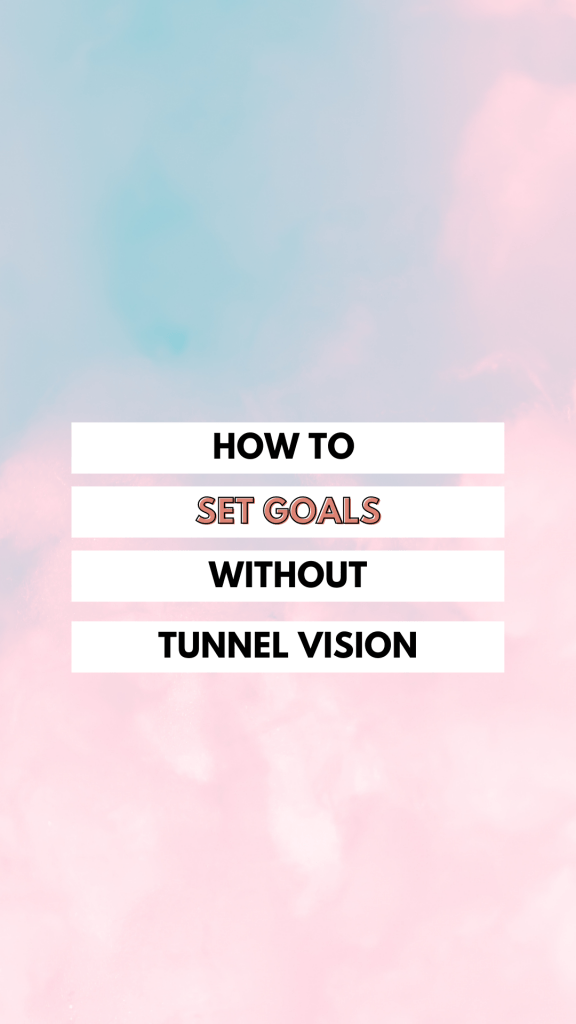 Setting goals can really go off the rails when you get so caught up on the specific actions, that the bigger goal is basically ignored.